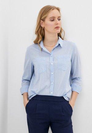 Рубашка Only. Цвет: голубой