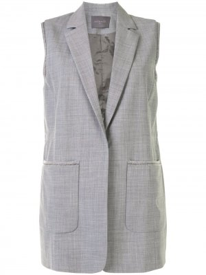 Удлиненный жилет с карманами Lorena Antoniazzi. Цвет: серый