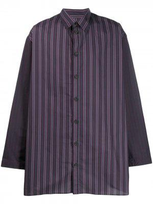 Классическая рубашка в полоску Qasimi. Цвет: синий