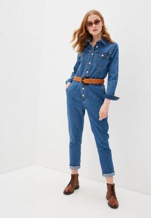 Комбинезон джинсовый b.young. Цвет: синий