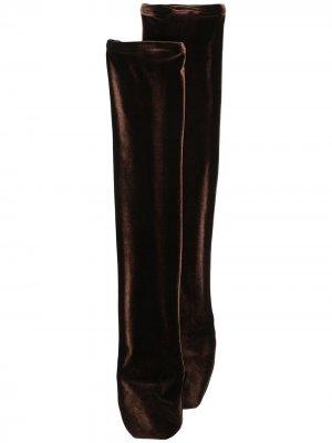 Бархатные гольфы Simone Wild. Цвет: коричневый