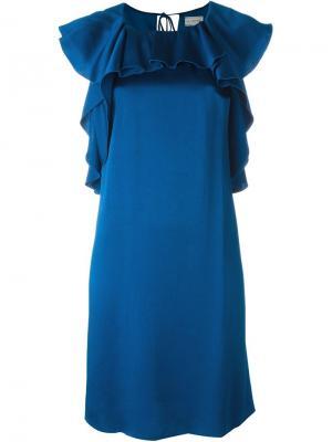 Платье с оборками Lanvin. Цвет: синий