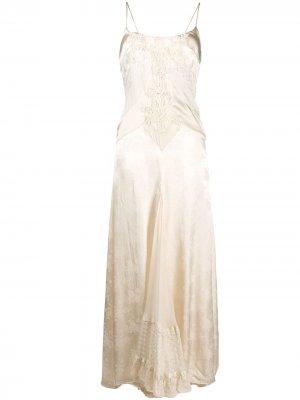 Платье макси с цветочным узором Antonio Marras. Цвет: нейтральные цвета