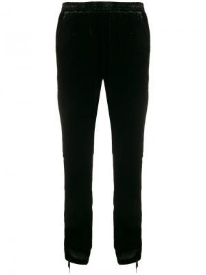 Укороченные брюки с присборенными деталями сбоку Gold Hawk. Цвет: черный