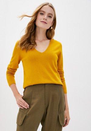 Пуловер s.Oliver. Цвет: желтый