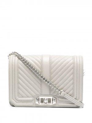 Стеганая сумка через плечо Love Rebecca Minkoff. Цвет: серый