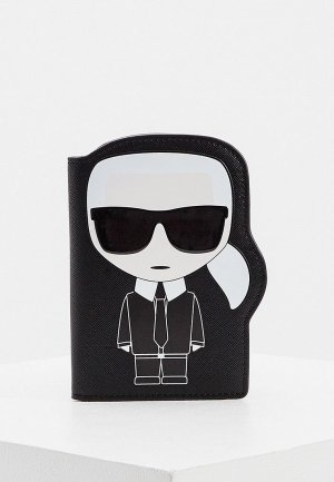 Обложка для документов Karl Lagerfeld. Цвет: черный