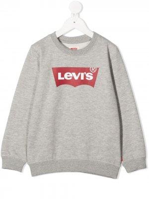 Levis Kids толстовка с длинными рукавами Levi's. Цвет: серый