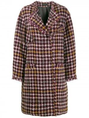 Твидовое пальто оверсайз Zaban Isabel Marant. Цвет: фиолетовый
