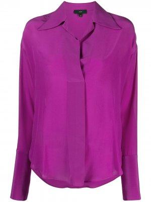 Рубашка с заостренным воротником Jejia. Цвет: фиолетовый