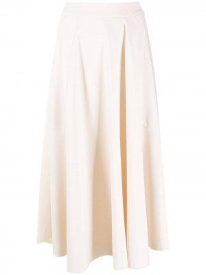 Драпированная юбка Alysi. Цвет: нейтральные цвета