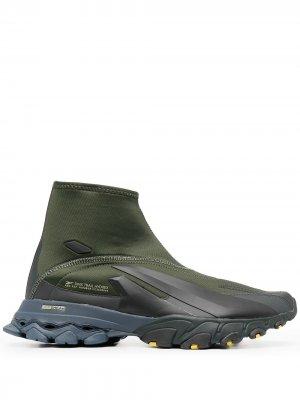 Высокие кроссовки DMX Trail Hydrex Reebok. Цвет: зеленый