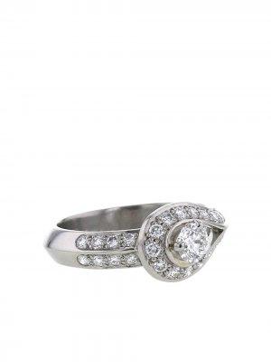 Кольцо Couture 2010-го года из платины с бриллиантами Van Cleef & Arpels. Цвет: серебристый