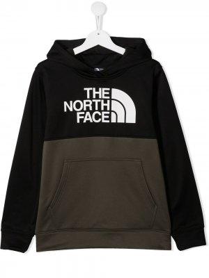 Худи Surgent в стиле колор-блок с логотипом The North Face Kids. Цвет: зеленый