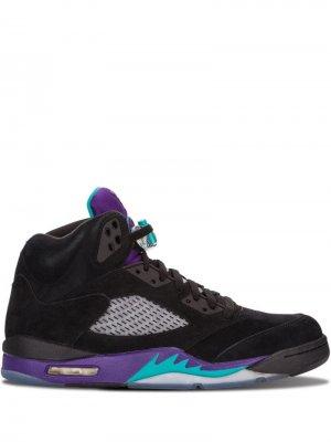 Кроссовки Air  5 Retro Jordan. Цвет: черный