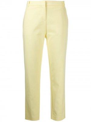 Укороченные брюки кроя слим Pinko. Цвет: желтый