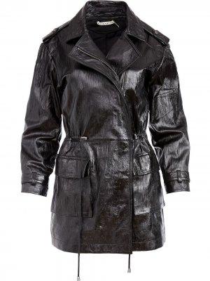 Куртка с жатым эффектом Alice+Olivia. Цвет: черный