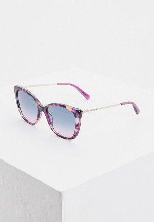 Очки солнцезащитные Love Moschino. Цвет: фиолетовый