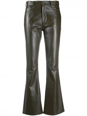 Расклешенные брюки Simonetta Ravizza. Цвет: зеленый