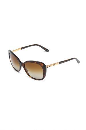 Очки солнцезащитные Bvlgari. Цвет: коричневый