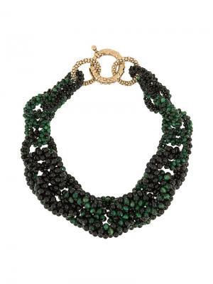 Interlock necklace Rosantica. Цвет: зеленый