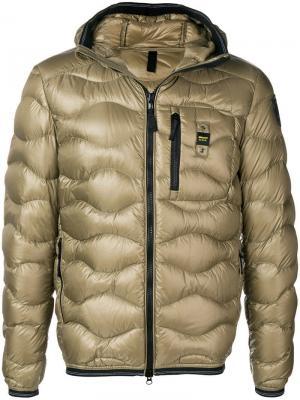 Short padded jacket Blauer. Цвет: зеленый