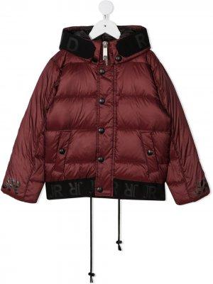 Дутая куртка на пуговицах John Richmond Junior. Цвет: красный