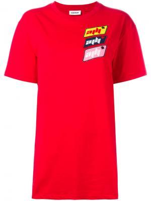Футболка с логотипом Au Jour Le. Цвет: красный