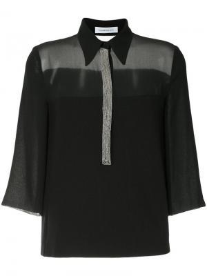 Топ с вышивкой Costume National. Цвет: черный