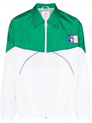 Спортивная куртка в стиле колор-блок Li-Ning. Цвет: белый