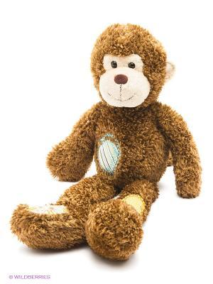 AURORA Игрушка мягкая Обезьянка с заплатками 45 см. Цвет: коричневый