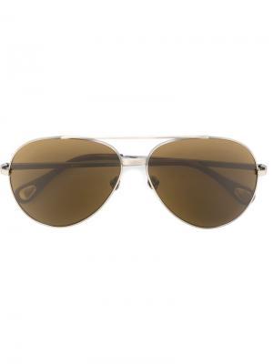 Солнцезащитные очки Linda Farrow × Ann Demeulemeester. Цвет: металлический