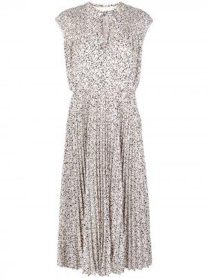 Плиссированное платье миди без рукавов Jason Wu. Цвет: белый