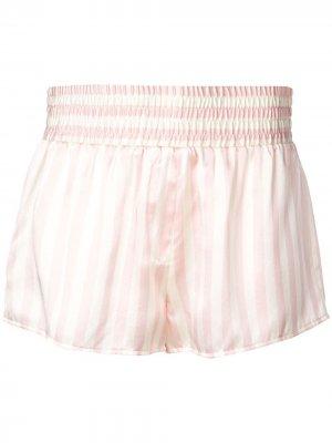 Пижамные шорты Corey в полоску Morgan Lane. Цвет: розовый