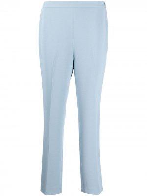 Прямые брюки с завышенной талией Ralph Lauren Collection. Цвет: синий