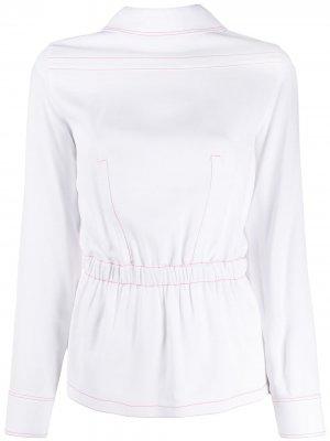 Рубашка на пуговицах Marni. Цвет: белый