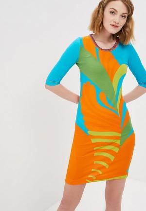 Платье Custo Barcelona. Цвет: разноцветный