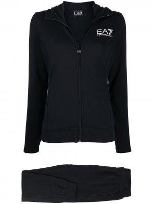 Спортивный костюм с логотипом Ea7 Emporio Armani. Цвет: черный