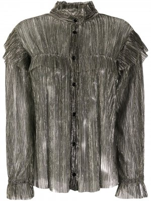 Прозрачная блузка с эффектом металлик Isabel Marant Étoile. Цвет: серебристый