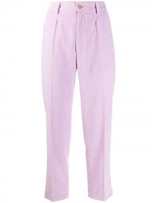 Зауженные бархатные брюки Forte. Цвет: розовый