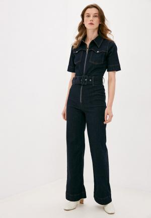 Комбинезон джинсовый Twist & Tango. Цвет: синий