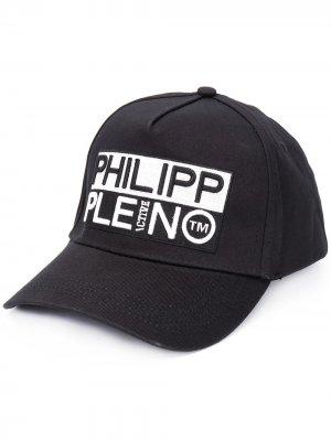 Бейсболка с вышитым логотипом Philipp Plein. Цвет: черный