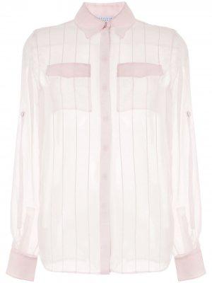 Блузка с декоративной строчкой Gabriela Hearst. Цвет: розовый