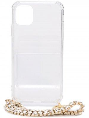 Чехол для iPhone 11 Pro с цепочкой Rosantica. Цвет: нейтральные цвета