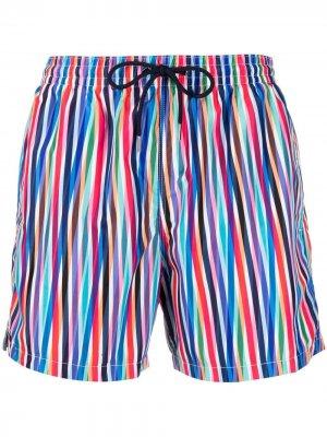 Пляжные шорты в полоску Aspesi. Цвет: синий
