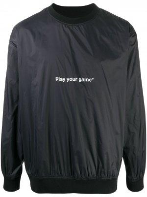 Толстовка Play Your Game MSGM. Цвет: черный
