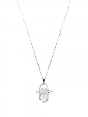 Колье Good Luck Charms из белого золота с бриллиантами Chopard. Цвет: серебристый