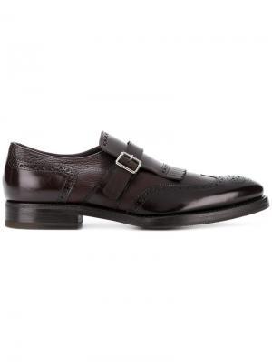 Туфли-монки Henderson Baracco. Цвет: коричневый