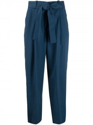 Укороченные брюки с завязками Pt01. Цвет: синий