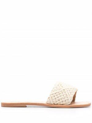Плетеные сандалии Los Angeles Manebi. Цвет: нейтральные цвета